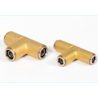 Hose Pipe connector equal TEE for PA12.PA11.PA6 DOT fitting thumbnail image