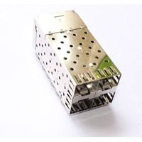 500pcs a lot SFP Cage 2X2 Port press type used for pressing in the PCB board