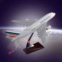 Model Aircraft Resin crafts Airbus 380 Air France Plane Model Engine Blade Hollow Design