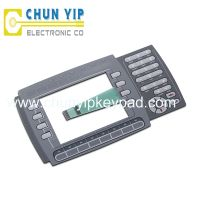push button membrane switch with window display