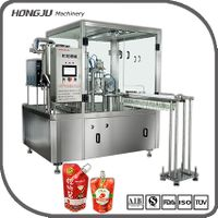 Gold Supplier China Automatic Liquid Spout Pouch Filling Machine And Stand Up Pouch Filling And Seal