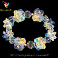 moissanite jewelry shiny Handmade Collection crystal stretch bracelet for women thumbnail image