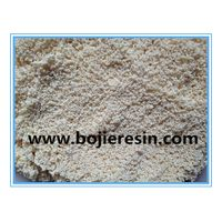 Zinc removal ion exchange resin