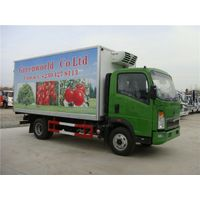 Sino HOWO Euro3 Diesel 6 Wheel 8 Ton Right Hand Drive Cooling Box Truck for Sale thumbnail image