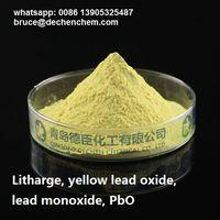 Litharge, yellow lead oxide, lead monoxide, PbO, CAS 1317-36-8