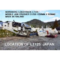USED NORDBERG LOKOTRACK MODEL LT125 MOBILE JAW CRUSHER MODEL C125B thumbnail image