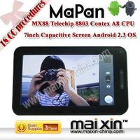 7 inch Telechip8803 Cortex A8 1.2Ghz Google Android 2.3 tablet pc thumbnail image