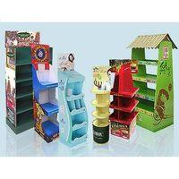 Pop floor shelves
