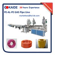 Overlap welding PEX-AL-PEX composite pipe extrusion machine