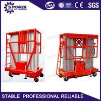 CE 10M mobile double mast aluminum man lift table for sale