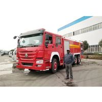 16tons Howo 10 wheel Fire Engine 13000Liters Water 3000liters foam Tanker Fire Fighting Truck thumbnail image