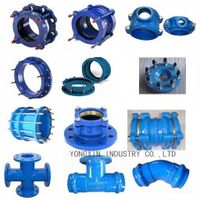 ductile iron pipe fittings double flange bend thumbnail image