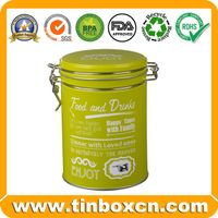 Round metal tea caddy tea tin box tea tin can