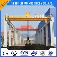 High Quality Double Girder Grab Bucket Bridge Crane 20 Ton