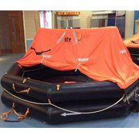 Solas approved throw over type life raft