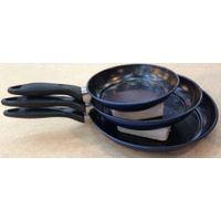3pc Carbon Steel Marble Fry Pan Set