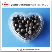 Heart shaped transparent plastic fruit blueberry packaging clamshells