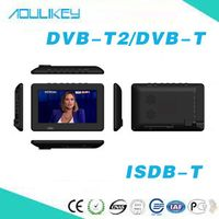 7 inch DVB-T2 compatible ISDB-T FULL SEG digital TV card speaker portable radio