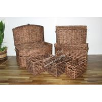 Best selling round water hyacinth trunks, laundry baskets-SD2503A-6NBR02