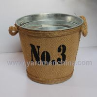 america style metal iron water bucket for flower or home decration