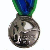 Marathon game metal running medal
