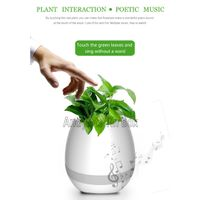 Smart Music Flower Pot ABS Plastic Creative Smart Flower Pot with Bluetooth Speaker and LED Light