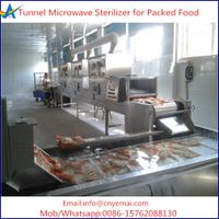Tunnel Microwave Packed Food Sterilizer, Food Sterilization Machine