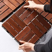 Interlocking Acacia Wood Deck Tiles Cheap