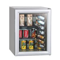 Mini Tabletop Hotel Room Beverage Display Cooler with Bottle Shelf