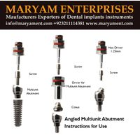 Dental implant Screw Abutment Dental implant Maryam Enterprises