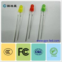 3mm round dip led with different colors