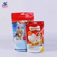 Plastic Clear Zipper Stand-up Barrier Pouch,OEM Recyclable Pet Dog Food Packaging Stand Up Zipper Ba thumbnail image