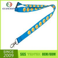Hot sell high quality personalized polyester heat transferred lanyard