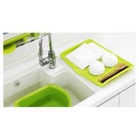Plastic Dish Drainer Holder Sink Drying Rack Dish Drying Pad Sorting Tray for Fruits, Vegetables