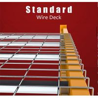 Flared Channel Wire Mesh Panels For Pallet Racking Storage Metal Grid supplier