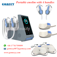 GOMECY 2021 hiemt rf muscles stimulate tesla emslim 4 heads for buttock body and arms treatment