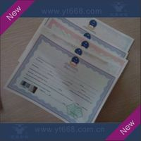 Anti-counterfeiting Certificate and documents printing
