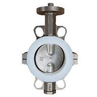 Butterfly Valve in Wafer/Lug Type, with PTFE Seat