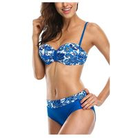 Women Underwired Bikini Set Push up Bathing Suit Bandeau Two Piece Swimsuits
