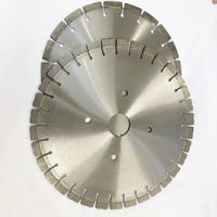 Slotting rock cutting used silent segmented diamond band saw blade for concrete