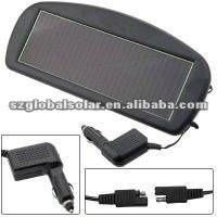 Solar car battery charger with CLA plug and charging indication lights thumbnail image