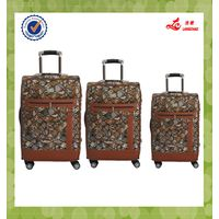 "Best Three pcs Set 19""23""26"" PU Material Langchao Brand Travelling Bag"