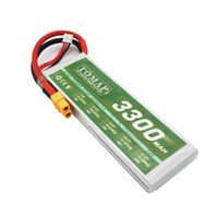 High rate 30c 2s lipo 7.4v rc battery 3300mah for model aircraft