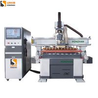 Honzhan HZ-ATC1325L Linear Auto Tool Changer Magazine CNC Router for furniture wooden door making thumbnail image