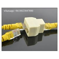 RJ45 CAT5 CAT5E Ethernet Cable LAN Port 1 To 2 Socket Splitter Network Connecter Adapters thumbnail image