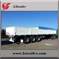 Liangxiang 12m-13m 3 Axles 40 ton 50 ton side wall guard truck side wall common semi trailer