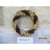 Indoor natural grass and pine corn Christmas wreath