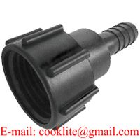"""PP IBC Tank Adapter/Coupling DIN 61 Adaptor Plastic Fittings Connector with 1"""" Hose Barb thumbnail image"""
