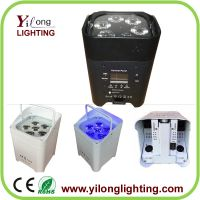 6x18W RGABW+UV battery powered led par light,battery recharged par led,wedding party decoration