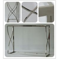 Formaldehyde Free Stainless Steel Polished Long Metal Desk For Hotel Project Hotel Furniture
